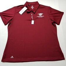Delmarva Scholarship Golf Classic Youth Boys Polo sz XL Adidas Maroon NWT M17