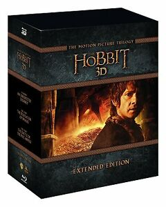 THE HOBBIT EXTENDED EDITION TRILOGY BOX SET 15 DISC BLU-RAY 3D REG B NEW&SEALED