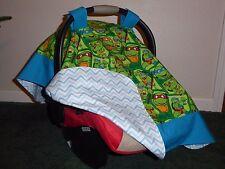 **TEENAGE MUTANT NINJA TURTLES* w/chev back Handmade Baby Car Seat Canopy-Cover