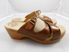 Dansko Women's Sela Sandals  41  11  Brown Patent Slides