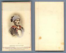 Couvée, La Haye, costume des pays bas Vollendam vintage carte de visite, CDV