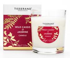 Tisserand Wild Cassis & Jasmine Scented Soya Wax Jar Candle 100g