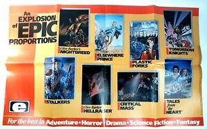 Vtg 1990 Epic Comics 36''x22'' Poster Promo Advert Clive Barker Hellraiser Clean