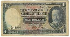 1935 The Government of Straits Settlements One Dollar