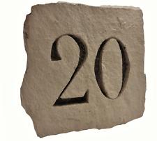 Numéro de maison en pierre reconstituée 2 couleurs Artisanale 100% Français