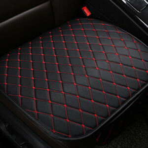 Car Seat Cover Front Cushion Black PU+Red Line Universal Cars Chair Accessories