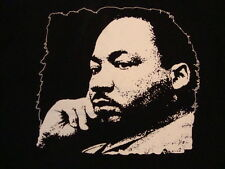 Martin Luther King Jr. Injustice in Healthcare Social Activist Black T Shirt S