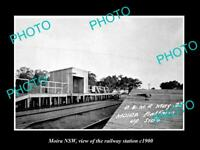 OLD LARGE HISTORIC PHOTO OF MOIRA NSW, VIEW OF THE RAILWAY STATION 1900