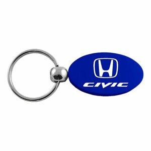 Honda Civic Key Ring Blue Oval Keychain