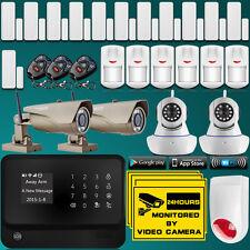 WiFi Internet GSM Home Burglar Alarm System Security Kit With Outdoor IP Camera