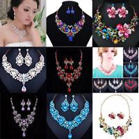 Women Fashion Bib Choker Chunk Crystal Statement Necklace Party Wedding  Jewelry