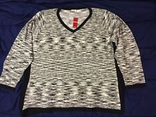 NWT Avenue 26/28 3X Gray Black & White Blended Sweater