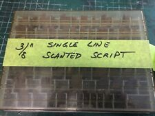 38 Single Line Slanted Script Brass New Hermes Engraving Font For Pantographs