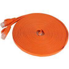 Fosmon 25FT RJ45 Cat5e Network Ethernet Patch Flat Slim Cable Cord - Orange
