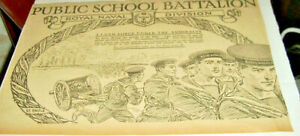 1915 PUBLIC SCHOOL BATALLION-ROYAL NAVAL DIVISION-A LAND OFRCE UNDER ORIGINAL AD