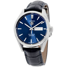 Tag Heuer Carrera Blue Dial Leather Strap Men's Watch WAR201E.FC6292