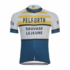 Retro Team  Pelforth Sauvage Legeune Jersey Cycling Jersey Short Sleeve