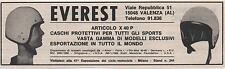 Pubblicità epoca CASCO MOTO EVEREST SPORT VALENZA old advert werbung publicitè