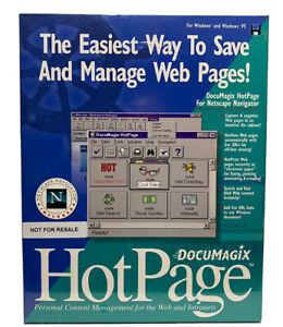 NETSCAPE NAVIGATOR 2.0 Windows 95 & 3.1 Vintage NEW Sealed 1996 Plus Hot Pages