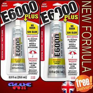 E6000 Plus Glue Multi-purpose 26.6ml or 56.1ml Rhinestone gem craft
