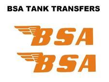 BSA Depósito Pegatinas Moto Clásica Special Tamaño 200x50mm Naranja