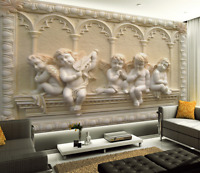 3D White Angel Baby Relief 6467 Wall Paper Wall Print Decal Wall AJ WALLPAPER CA