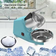220V Commercial Electric Ice Crusher Shaver Machine Snow Cone Maker Shaved Ice