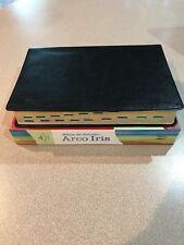 Biblia de Estudio Arco iris Negra Piel Fabircada Con Indice Reina Valera 1960