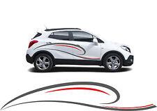 XXL 2x Autoaufkleber Car Tuning Dekor 2,40m 2 Farben nach Wunsch