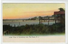 VIEW OF SHREWSBURY RIVER, RED BANK: New Jersey USA postcard (C14706)