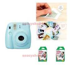 Fujifilm Fuji Instax Mini 8 Instant Polaroid Camera Blue + 20 Film Photo shot
