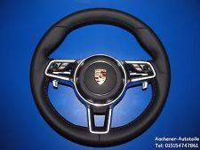 Porsche 991 981 970 95b 958 Turbo Multifuncional Tiptronic VOLANTE CUERO NEGRO