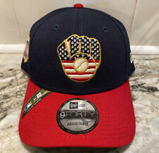 New Era 9Forty Milwaukee Brewers 4th Of July Flag Adjustable USA Hat Cap