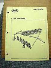 Vicon H 1350 Series 59005 Rotary Rake Spare Parts List Manual #7