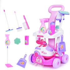 Putzwagen mit Staubsauger Reinigungswagen Spielzeug Spielküche Kinder.