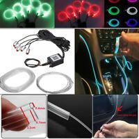 RGB 5 LED Car Door Dash Ambient Light 6m Neon Strip Blueteeth Phone APP Control