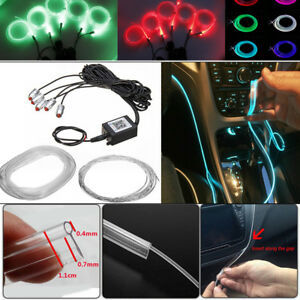 RGB 5 LED Car Door Dash Ambient Light 6m Neon Strip Blueteeth Phone APP Control