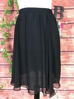 Paltra Skirt size 10 Black Sheer Knee Full Evening Formal Wedding Church Modest
