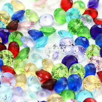 100 Pcs 5mm Glass Diamonds Fake Mixed Colors Tipback DIY Material for Jewelry