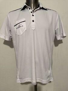 Black Clover Live Lucky Las Vegas Bellagio Hotel Golf Polo Shirt Wht/Blk Men's M