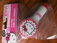 Hello Kitty 2.1amp USB Car Charger Lights Up While Charging iPhone, iPod,iPad