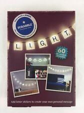 Scrabble Tile Light Set 10 Lights 60 Letter Stickers USB Power Adapter NEW