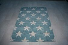 Quality Modern Teal Green Star's Rug 120cm x 170cm 8mm Thick Star Rug! Retro