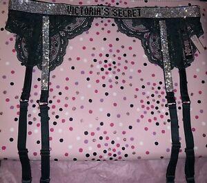 Victoria Secret VERY SEXY Shine Strap Envious Garter Belt Size XS/S *NEW