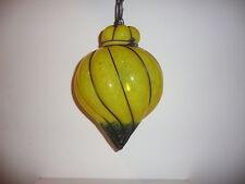 Suspension / lanterne / lustre ; verre souflé en cage : MURANO