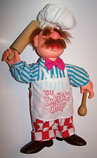 "RARE! Vintage 1988 Muppets The Swedish Chef 13"" Plush Doll/Figure - Post Cereal"