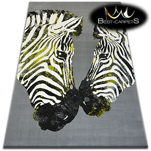 ORIGINAL ANIMAL THEME CARPETS 'FLASH' Zebra Print Area CHEAP Rugs Carpet
