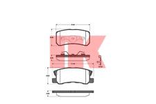 Bremsbelagsatz Scheibenbremse - NK 223025