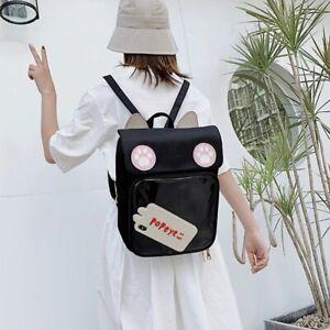 Women Cute ITA Bag With Cat Bagging Backpacks Girls Transparent Backpack
