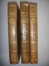 Mélanges de littérature et de philosophie du 18è S, 3 tomes/4, 1818, BE